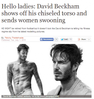 David Beckham article in the Express