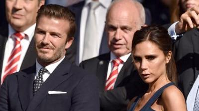 Beckhams photo at Wimbledon